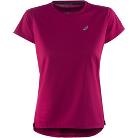 asics Race Mouwloos Shirt Dames, dried berry